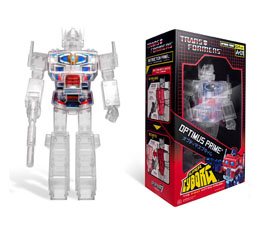 TRANSFORMERS FIGURINE SUPER CYBORG OPTIMUS PRIME CLEAR 30 CM