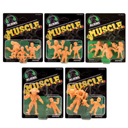 5 PACK FIGURINES ALIEN MUSCLE 4 CM