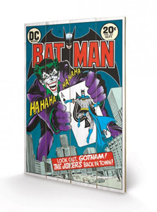 DC COMICS TABLEAU BOIS THE JOKER - BACK IN TOWN