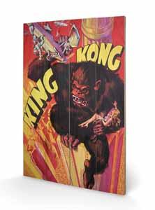 KING KONG TABLEAU BOIS GRAB 40 X 60 CM