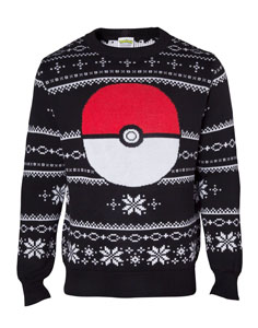 SWEATER POKEMON POKEBALL CHRISTMAS