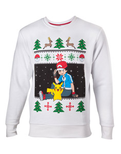 POKEMON SWEATER ASH ET PIKACHU CHRISTMAS