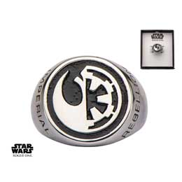 STAR WARS ROGUE ONE ANNEAU REBEL ALLIANCE/GALACTIC EMPIRE SYMBOL