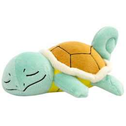 PELUCHE POKEMON SLEEPING CARAPUCE 16 CM