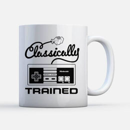 MUG NINTENDO NES CLASSICALLY TRAINED
