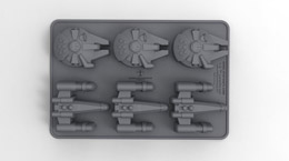 Bacs à glaçons STAR WARS X-Wing & Millenium Falcon