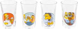 SET 4 VERRES A LIQUEUR SIMPSONS TO ALCOHOL