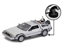 RETOUR VERS LE FUTUR II DELOREAN LK COUPE 1981 1/24 MÉTAL FLY WHEEL