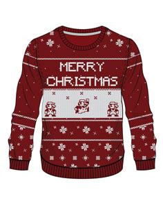SWEAT NINTENDO RED MARIO MERRY CHRISTMAS