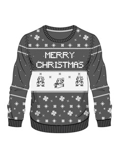 Photo du produit SWEAT NINTENDO GREY MARIO X-MAS