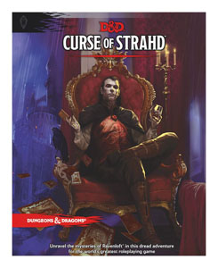 LIVRE DUNGEONS & DRAGONS RPG ADVENTURE CURSE OF STRAHD (VERSION ANGLAISE)