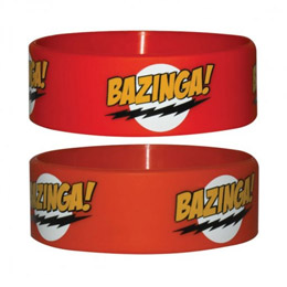 THE BIG BANG THEORY BRACELET CAOUTCHOUC RED BAZINGA