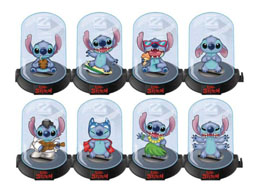 PACK 24 FIGURINES DOMEZ LILO & STITCH SERIE 3 +PRESENTOIR