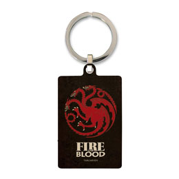 GAME OF THRONES PORTE CLE METAL TARGARYEN 6 CM