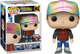 FUNKO POP BACK TO THE FUTURE MARTY MCFLY FUTURE OUTFIT METALLIC