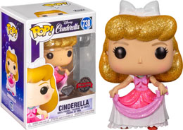 FUNKO POP CINDERELLA IN PINK DRESS VERSION EXCLUSIVE DIAMOND GLITTER