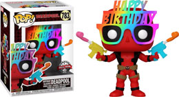 FUNKO POP DEADPOOL BIRTHDAY GLASSES DEADPOOL 30TH ANNIVERSARY EXCLUSIVE