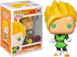 FUNKO POP DBZ GOHAN IN GREEN SUIT EXCLUSIVE GLOW IN THE DARK
