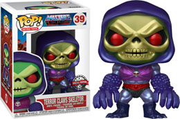 FUNKO POP MASTERS OF THE UNIVERSE SKELETOR WITH TERROR CLAWS METALLIC