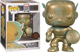 FUNKO POP THE AVENGERS CAPTAIN AMERICA PATINA 80TH ANNIVERSARY EXCLUSIVE