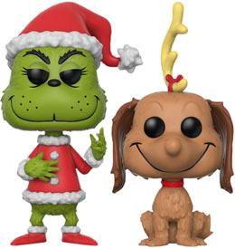 FIGURINES FUNKO POP THE GRINCH ET MAX THE DOG