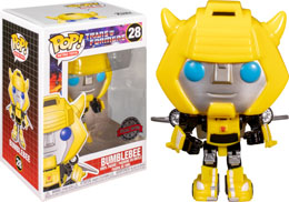 FUNKO POP TRANSFORMERS 1984 BUMBLEBEE WITH WINGS EXCLUSIVE