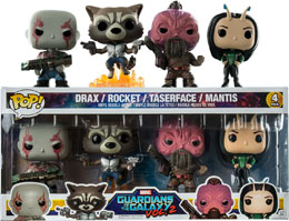 GUARDIANS OF THE GALAX VOL 2 PACK 4 FUNKO POP ROCKET RACCOON, DRAX, TASERFACE & MANTIS
