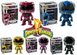 PACK 5 FIGURINES FUNKO POP POWER RANGERS LE FILM