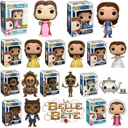 PACK 10 FUNKO POP LA BELLE ET LA BETE