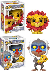 PACK 2 FIGURINES FUNKO POP LE ROI LION SIMBA & RAFIKI