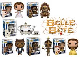 PACK 6 FUNKO POP LA BELLE ET LA BETE