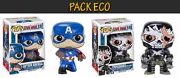 PACK ECO FUNKO POP CAPTAIN AMERICA CIVIL WAR