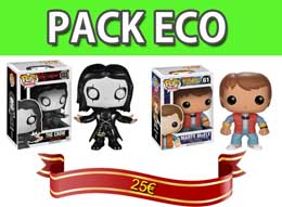 PACK 2 FIGURINES FUNKO POP MARTY ET THE CROW