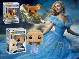 PACK FUNKO POP! CENDRILLON CINDERELLA ET GUS GUS SPARKLE SLIPPER EXCLU