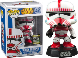 STAR WARS FIGURINE FUNKO POP SHOCK TROOPER EXCLU