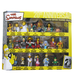 COFFRET COLLECTOR 21 FIGURINES SIMPSONS 20TH ANNIVERSARY